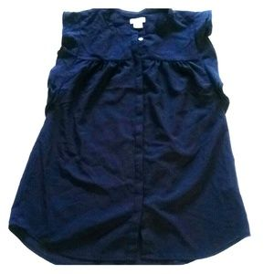J Crew navy blue sleeveless shirt